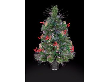 2.62ft Grüne Kiefer Künstlicher Weihnachtsbaum mit 10 mehrfarbigen Lichtern