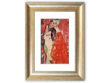 Gerahmtes Poster Die Freundinnen von Gustav Klimt