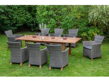 8-Sitzer Gartengarnitur Hasting mit Polster