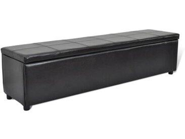 Gepolsterte Schlafzimmerbank aus Kunststoff mit Stauraum