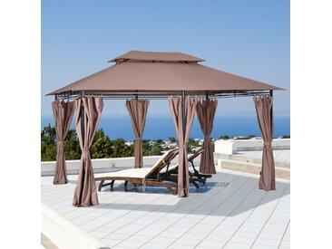 300 cm x 400 cm Terrassenpavillon Kattie aus Stahl