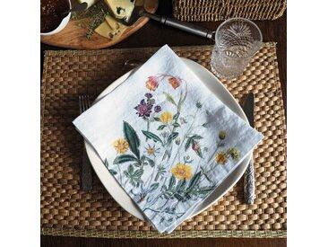 6-tlg. Servietten-Set Belvedere Wildflowers White Floral