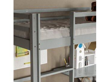 Hochbett Muskoka mit Schreibtisch, 90 x 190 cm