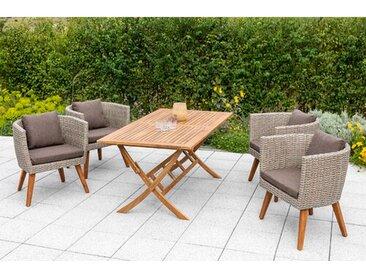 4-Sitzer Gartengarnitur Lanora mit Polster
