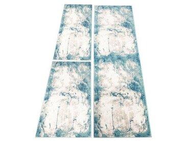 Flachgewebe-Bettumrandung Abeer in Pastellblau