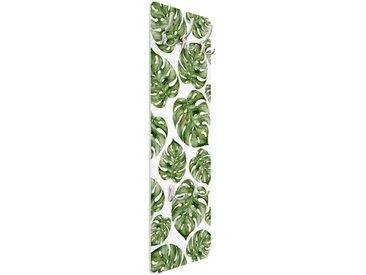 Wandgarderobe Aquarell Monstera Blätter