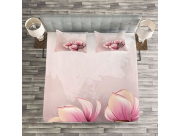 Tagesdecken-Set Fossett Magnolia mit passender Kissenhülle