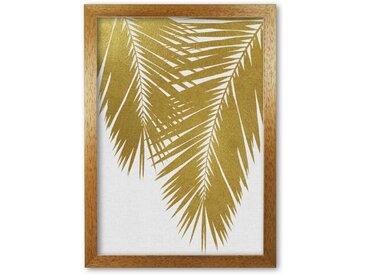 Poster Palmen-Blatt II in Gold
