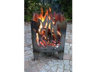 Gartenkamin Flamme aus Stahl