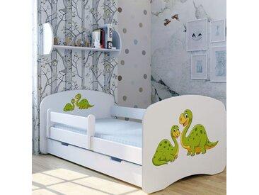Funktionsbett Dinos mit Matratze und Schublade