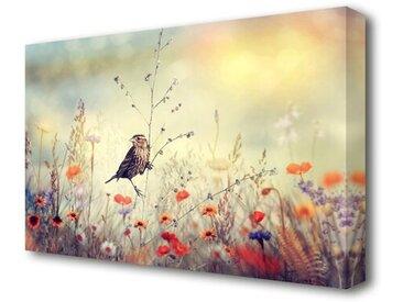 Leinwandbild Vogel im Paradies