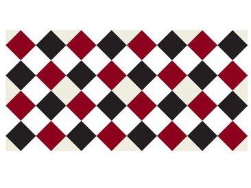 120 x 60 cm PVC Fliese in Rot/Schwarz