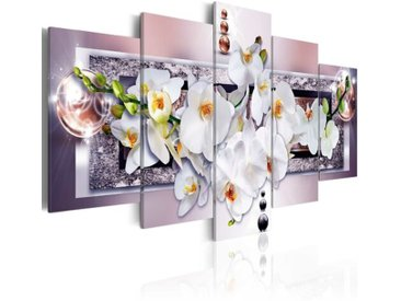 5-tlg. Leinwandbilder-Set Mysteriöse Orchidee