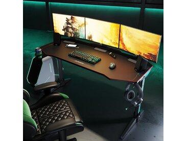 ClearAmbient Computertisch Gaming Tisch LED 140 Cm