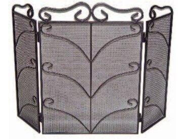 Kamingitter mit 3 Paneelen aus Stahl