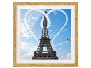 Gerahmtes Papierbild Paris - Stadt der Liebe