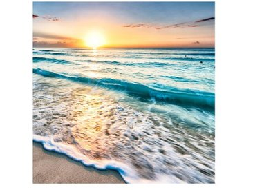 Matt Fototapete Sonnenuntergang am Strand 2,4 m x 240 cm