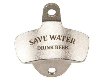 Wand-Flaschenöffner 'Save water drink beer!'