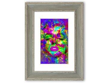 Gerahmtes Poster Marilyn Monroe Regenbogen
