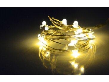 Lichterkette 20-flammig in Weiß