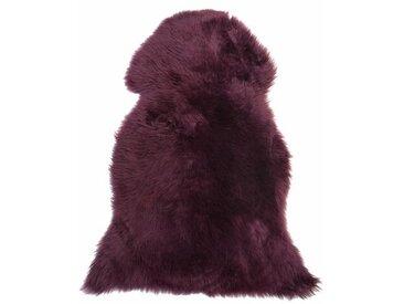 Teppich Lenora aus Schaffell in Violett