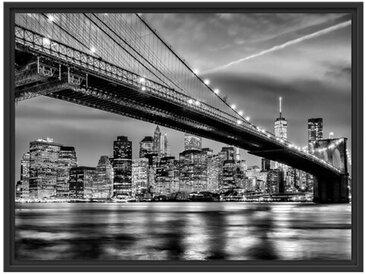 Gerahmtes Wandbild New York Brooklyn Bridge