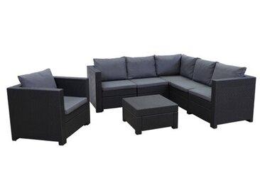 6-Sitzer Lounge-Set Roderica aus Polyrattan mit Polster