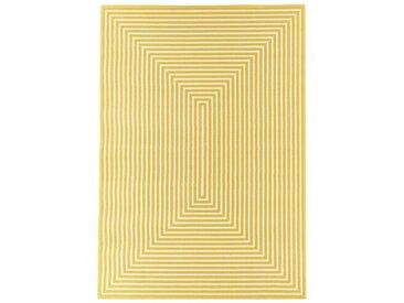 Flachgewebe-Innen-/Außenteppich in Gelb