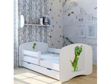 Funktionsbett Dino Max mit Matratze und Schublade