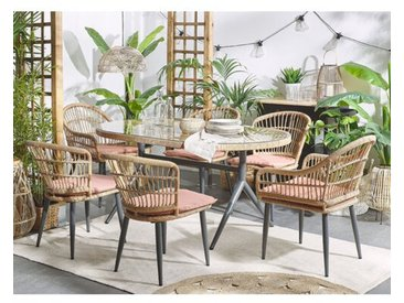 6-Sitzer Gartengarnitur Featherstone mit Polster