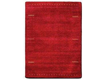 Handgefertigter Teppich aus Wolle in Rot Farr