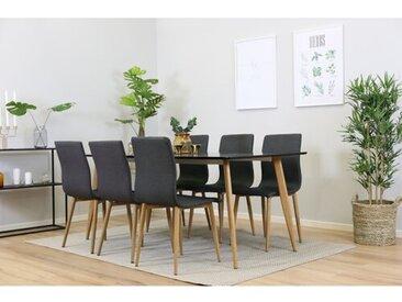 Essgruppe Ines mit 6 Stühlen