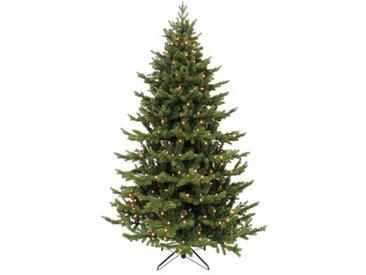 Künstlicher Weihnachtsbaum 122 cm Grün mit 88 Leuchten in Transparent/Weiß