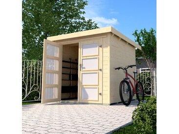 254 cm x 194 cm Fahrradgarage aus Massivholz