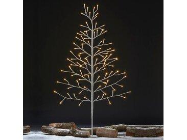 Künstlicher Weihnachtsbaum 106 cm Weiß mit LED-Leuchten in Transparent/Weiß