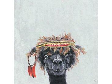 Leinwand Marquise Hippie Llama II