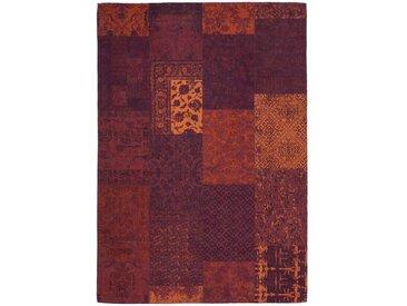 Handgefertigter Teppich aus Baumwolle in Orange/Rot Inara
