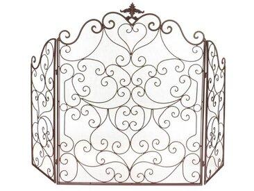 Kaminschirm Glassman mit 3 Paneelen aus Eisen