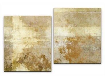 2-tlg. Leinwandbilder-Set Abstrakt