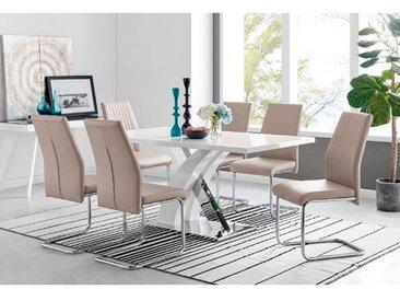Essgruppe Lelia mit 6 Stühlen
