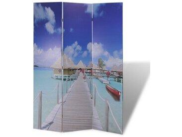 3-tlg. Raumteiler Strand, 180 x 120 cm