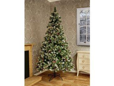 Künstlicher Weihnachtsbaum 213 cm Grün mit 260 LEDs in Warmweiß und Ständer Sugar