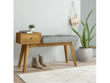 Garderobenbank mit Stauraum aus Holz