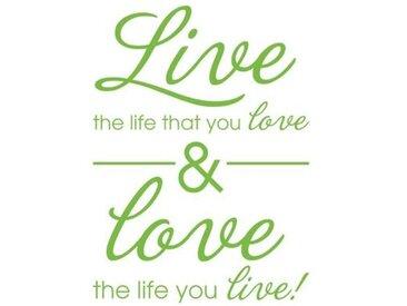 Wandtattoo Live & Love