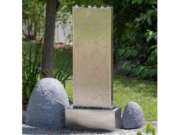 Bodenbrunnen Biscayne aus Edelstahl mit Licht