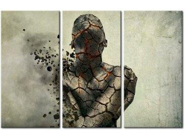 3-tlg. Leinwandbilder-Set Der versteinerte Mann - Tryptichon