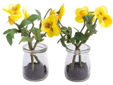 Kunstblume Hornveilchen in Vase