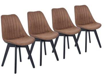 Esszimmerstuhl-Set Ziolkowski aus Massivholz