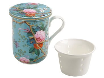 Teetasse mit Deckel und Teesieb Kilburn