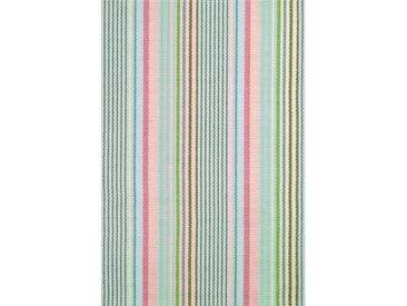 Teppich aus Baumwolle in Blau/Rosa/Grün